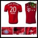 Uniforme De Futebol Bayern München (20 Rode) 2015/2016 I Masculina