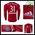 Uniforme De Futebol Bayern München (31 Schweinsteiger) Manga Longa 2015-2016 I Masculina