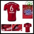 Uniforme Futebol Bayern München (6 Thiago) 2015/2016 I Masculina