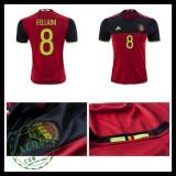 Camisa Futebol (8 Fellaini) Bélgica Autêntico I Euro 2016 Masculina