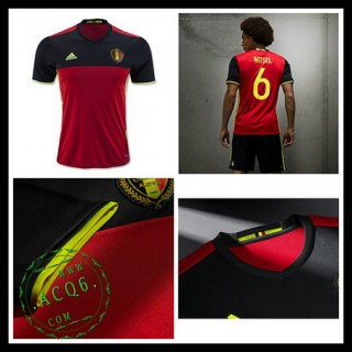 Camisas Futebol Bélgica Autêntico I Euro 2016 Masculina