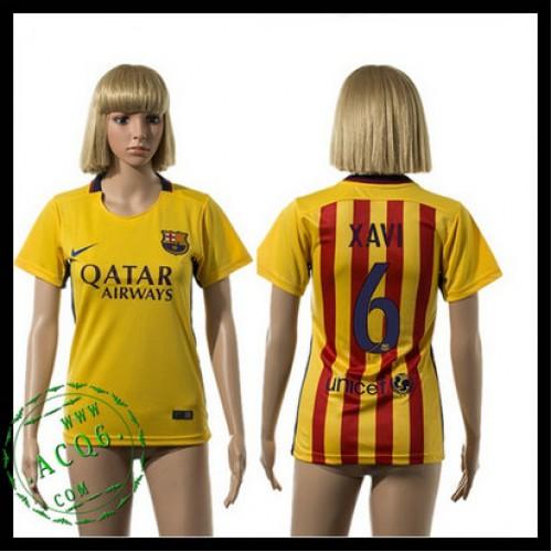 6ba9328e3bd3e Barcelona Camisa Futebol Xavi 2015-2016 Ii Feminina - Camisa Clube ...