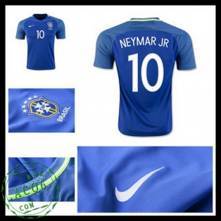 Camisa De Futebol Brasil Neymar Jr 2016/2017 Ii Masculina