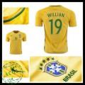 Camisas De Futebol Brasil Willian 2016 2017 I Masculina