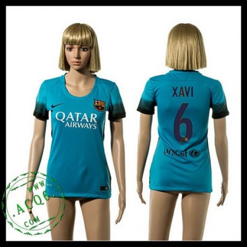 f72f4fb91da6c Barcelona Camisas Du Futebol Xavi 2015 2016 Iii Feminina - Camisa ...