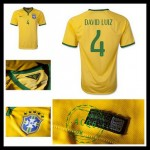 Camisas De Futebol Brasil (4 David Luiz) 2015 2016 I Masculina