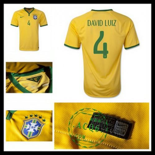 Camisas De Futebol Brasil (4 David Luiz) 2015 2016 I Masculina ... 7437123dfd726