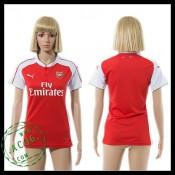 Arsenal Camisa De Futebol 2015 2016 I Feminina