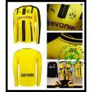 Camisa Du Futebol Borussia Dortmund Manga Longa 2016/2017 I Masculina