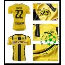 Uniformes De Futebol Borussia Dortmund Pulisic 2016-2017 I Masculina