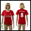 Liverpool Camisas Futebol Steven Gerrard 2015 2016 I Feminina