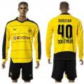 Borussia Dortmund Camisa De Futebol Dudziak Manga Longa 2015/2016 I Masculina