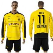 Borussia Dortmund Camisa De Futebol Reus Manga Longa 2015-2016 I Masculina