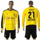 Borussia Dortmund Camisa Du Futebol Kirch Manga Longa 2015 2016 I Masculina