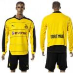 Borussia Dortmund Camisa Futebol Manga Longa 2015-2016 I Masculina