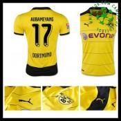 Camisa De Futebol Borussia Dortmund (17 Aubameyang) 2015/2016 I Masculina