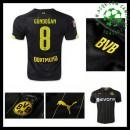 Camisas Du Futebol Borussia Dortmund (8 Gundogan) 2015/2016 Ii Masculina