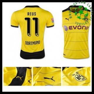 Camisas Futebol Borussia Dortmund (11 Reus) 2015 2016 I Masculina