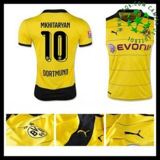 Camisetas Borussia Dortmund (10 Mkhitaryan) 2015-2016 I Masculina