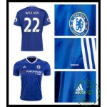 Velho Camisas Futebol Willian Chelsea Fc Masculina 2016-2017 I Online Store