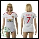 Manchester United Camisa De Futebol Memphis 2015/2016 Ii Feminina