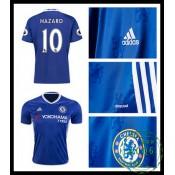 Verdadeiro Camisa Futebol Hazard Chelsea Fc Masculina 2016 2017 I Loja On-Line
