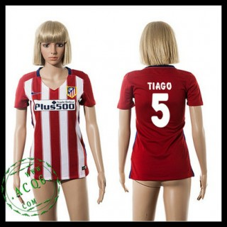 Atlético Madrid Camisa De Futebol Tiago 2015-2016 I Feminina