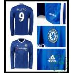 Compra Camisas Du Futebol Manga Longa Falcao Chelsea Fc Masculina 2016-2017 I Loja On-Line
