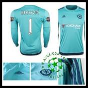 Camisa Du Futebol Chelsea (1 Begovic) Manga Longa 2015 2016 I Goleiro 5cfe124d03859