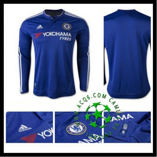 0176746805 Camisa Futebol Chelsea Manga Longa 2015 2016 I Masculina - camisolas ...