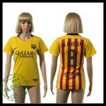 Barcelona Camisas Futebol A.Iniesta 2015 2016 Ii Feminina