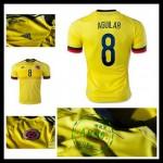 Camisa De Futebol Colômbia (8 Aguilar) 2015/2016 I Masculina