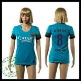 Barcelona Camisa Du Futebol A.Iniesta 2015/2016 Iii Feminina