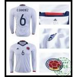 Loja Camisas De Futebol Manga Longa C. Sanchez Colômbia Masculina 2016-2017 I Loja On-Line