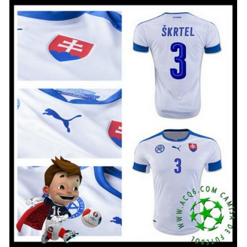 56dab2c3c4 Desenho Camisa De Futebol Skrtel Eslováquia Masculina Euro 2016 2017 I Loja  On-Line