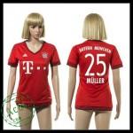 Bayern München Camisa De Futebol Muller 2015/2016 I Feminina