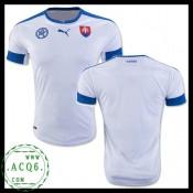 Compra De Camisas De Futebol Eslováquia Masculina Euro 2016 I On-Line