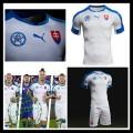 Camisas Eslováquia Autêntico I Euro 2016 Masculina