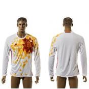 Espanha Camisas Futebol Manga Longa 2015 2016 Ii Masculina