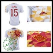 Camisas Futebol (15 Ramos) Espanha Autêntico Ii Euro 2016 Masculina