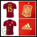Camisa Du Futebol (15 Ramos) Espanha Autêntico I Euro 2016 Masculina
