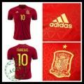 Camisa Du Futebol (10 Fabregas) Espanha Autêntico I Euro 2016 Masculina
