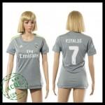 Real Madrid Camisas Futebol Ronaldo 2015/2016 Ii Feminina