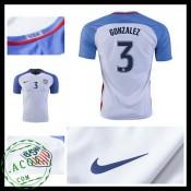 Camisas Du Futebol Eua Gonzalez 2016/2017 I Masculina