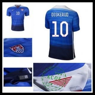 Camisa Futebol Estados Unidos (10 Diskerud) 2015/2016 Ii Masculina