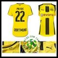 Crie Sua Uniforme De Futebol Pulisic Borussia Dortmund Feminina 2016 2017 I Mais Barato Online