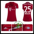 Etoile Camisa De Futebol Muller Bayern De Munique Feminina 2016-2017 I Mais Barato Online