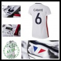 Camisetas (6 Cabaye) França Autêntico Ii Euro 2016 Feminina