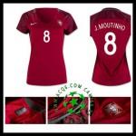 Compra Uniforme De Futebol J.Moutinho Portugal Feminina 2016/2017 I Loja On-Line