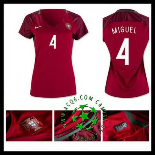 Criar Uniforme Futebol Miguel Portugal Feminina 2016 2017 I Loja On-Line d2ae1d52edf36